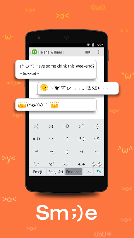 Android TouchPal Emoji - Color Smiley Screen 3
