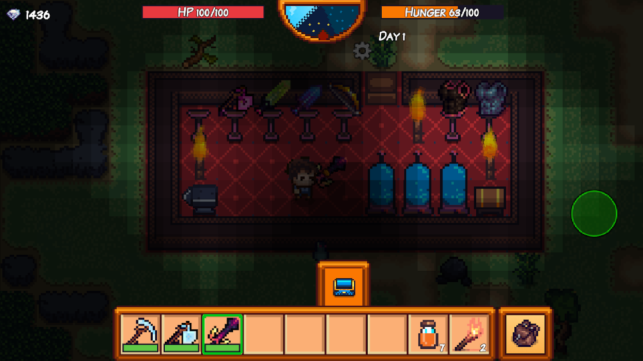 Android Pixel Survival Game 3 Screen 1