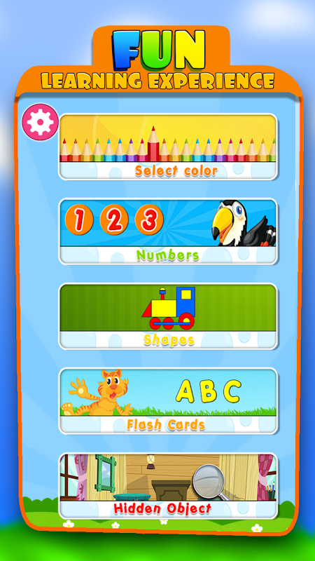 Android Kids Learning Educational Game Screen 1