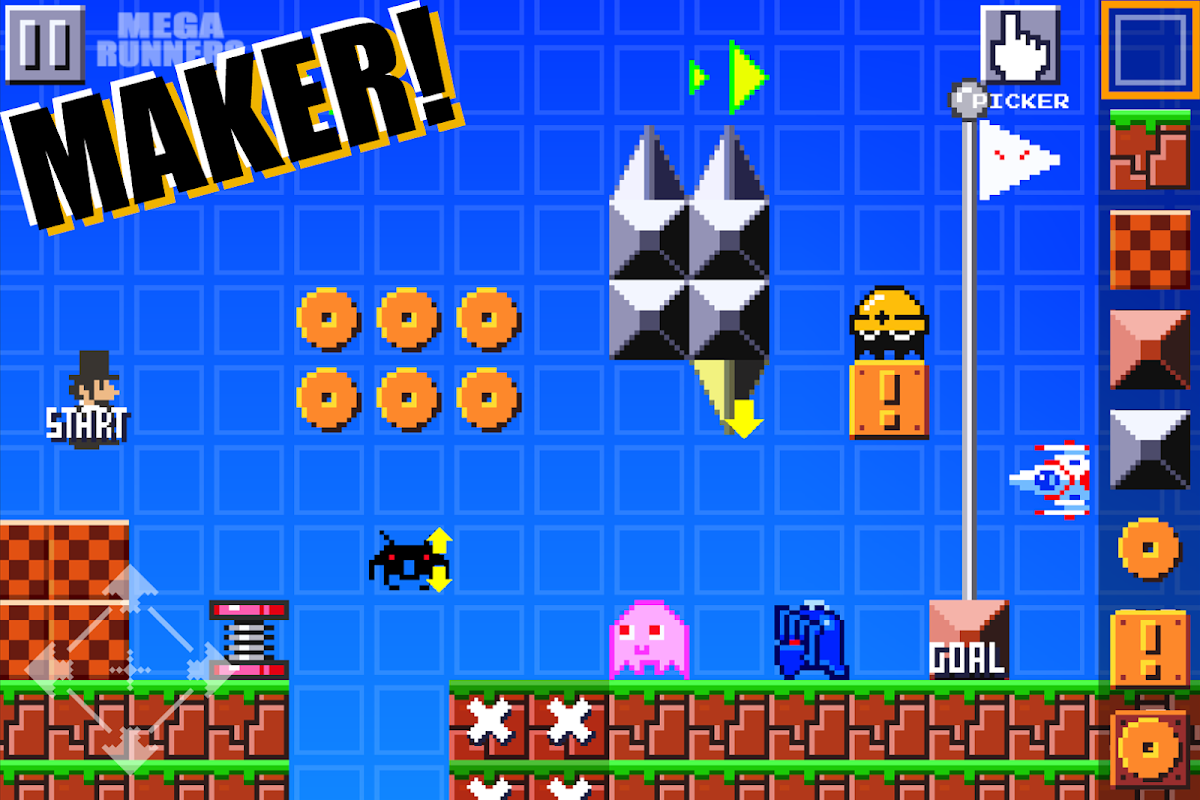 Super Mega Runners : Stage maker Create your game 16.2 Screen 6
