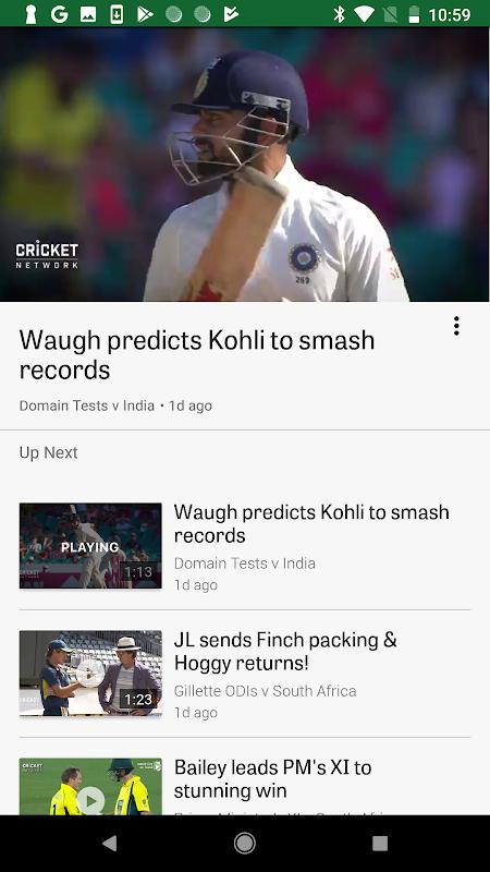 Android Cricket Australia Live Screen 6