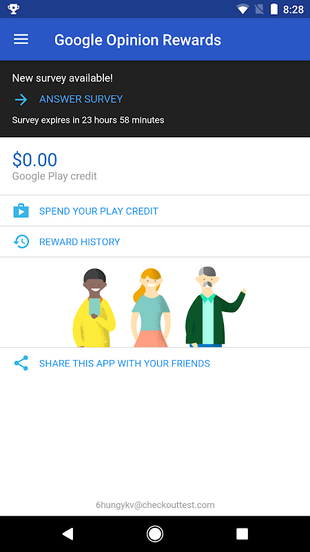 Android Google Opinion Rewards Screen 1