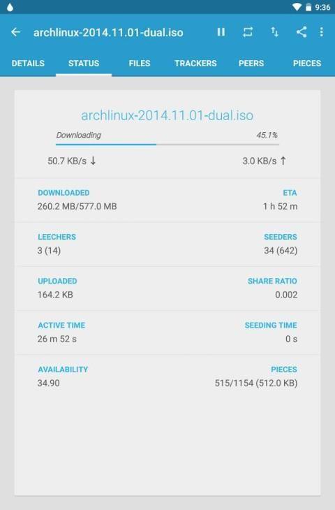 Flud - Torrent Downloader 1.4.9 Screen 9