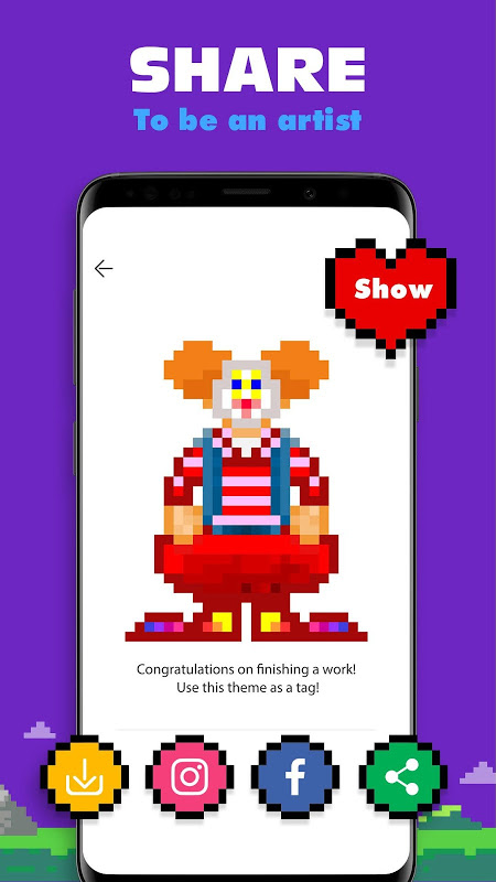 Android Kolor - Color by Number, Number Coloring Screen 4