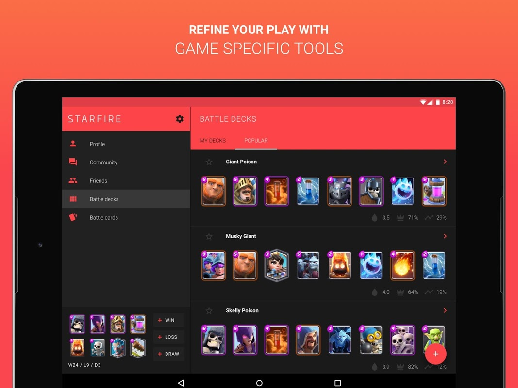 Starfire - Clash Royale hub 1.0.1 Screen 7