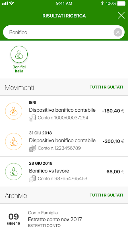 Android Intesa Sanpaolo Mobile Screen 1