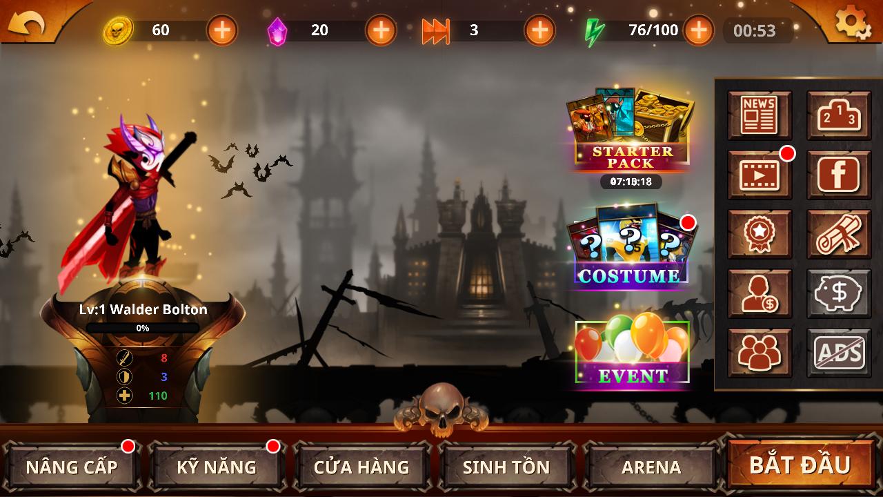 Stickman Legends - Ninja Hero: Knight, Shooter RPG 2.0.2 Screen 7