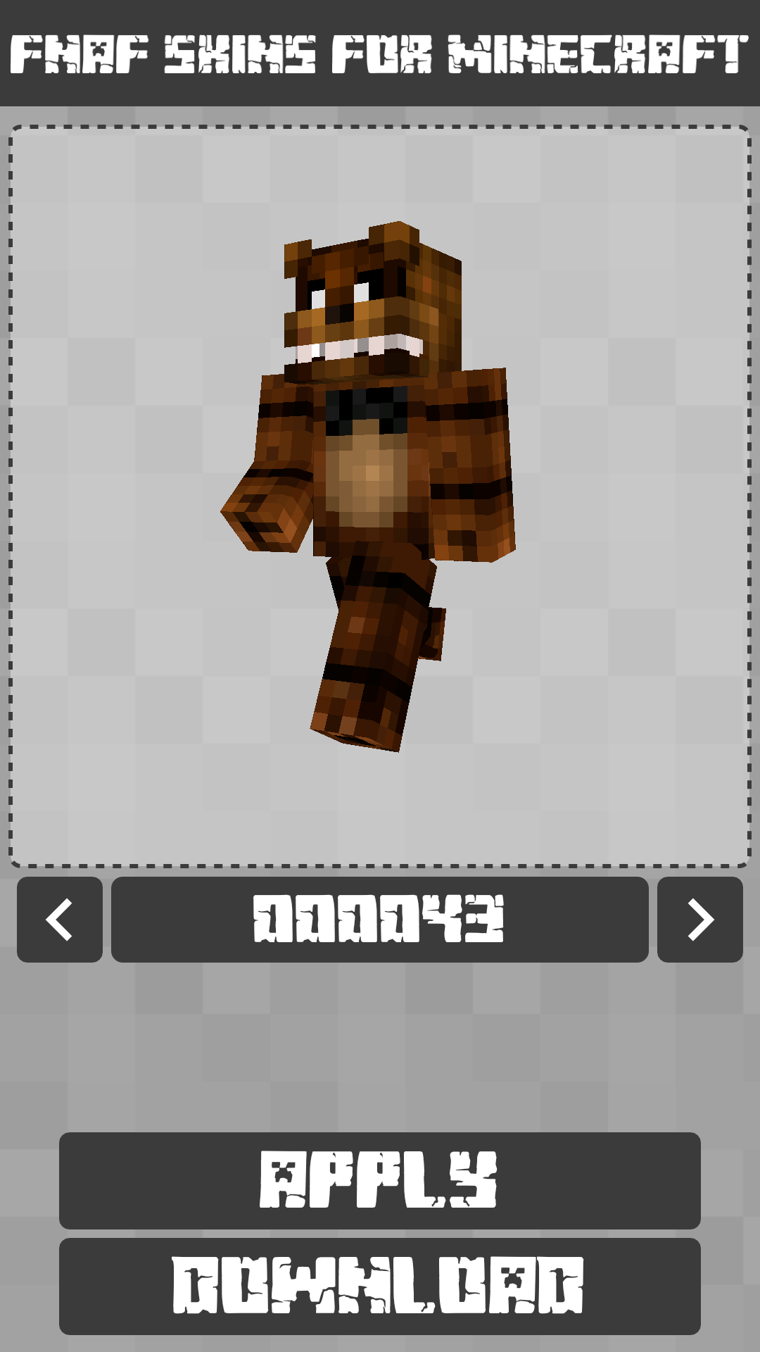 Android FNAF Skins for Minecraft PE Screen 7
