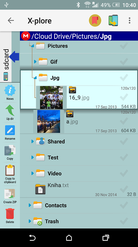 X-plore File Manager 4.11.10 Screen 10