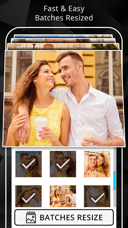 Android Photo Resizer: Crop, Resize, Share Images in Batch Screen 3