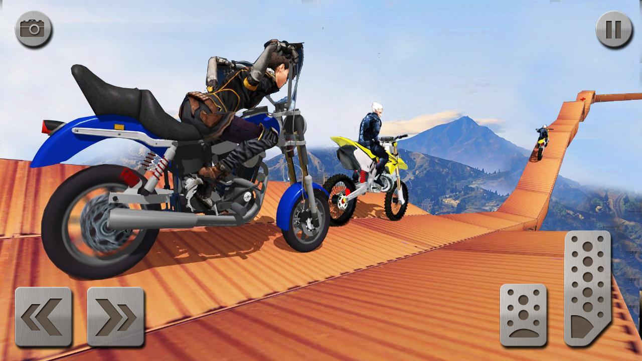 Android Impossible Mega Ramp Moto Bike Rider: Superhero 3D Screen 4