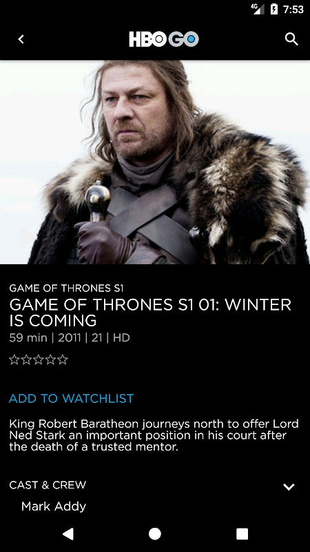 HBO GO Singapore 5.0.9 Screen 3