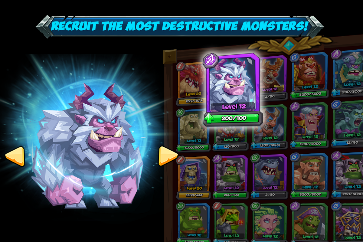 Android Tactical Monsters Rumble Arena - Tactic & Strategy Screen 2