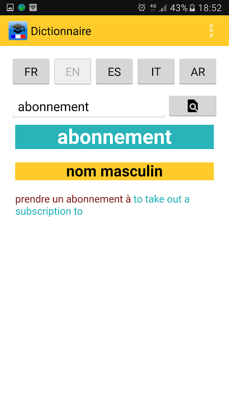 Android Le Dictionnaire Screen 1