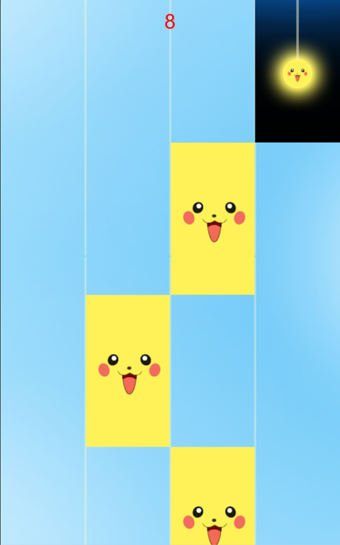 Android Piano tiles-don't tap pikachu Screen 1