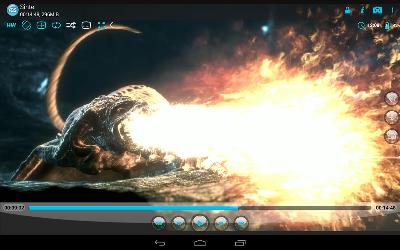 Android BSPlayer Screen 1