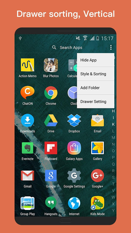 Android O+ launcher - O Oreo Launcher for Android™ O 8.0 Screen 1
