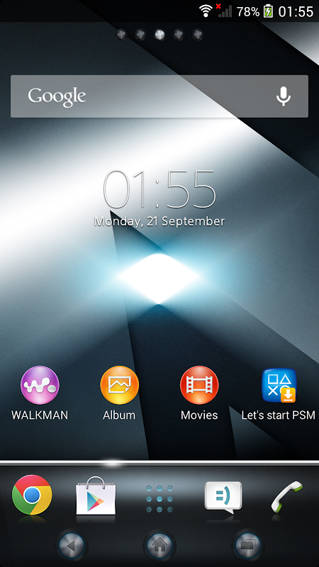Android Xperia™ theme - Reality Screen 4