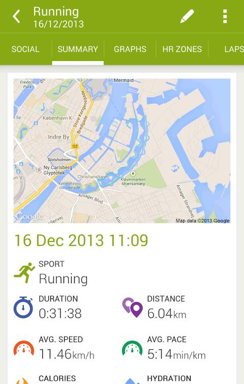 Android Endomondo Sports Tracker PRO Screen 17