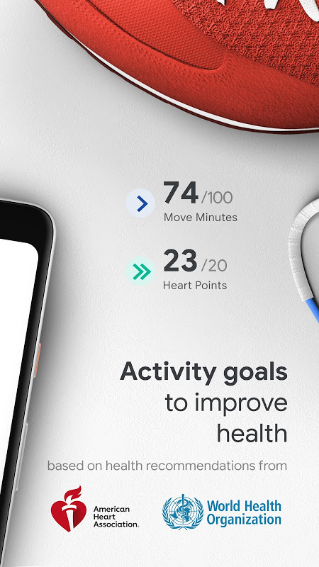 Android Google Fit: Health and Activity Tracking Screen 1