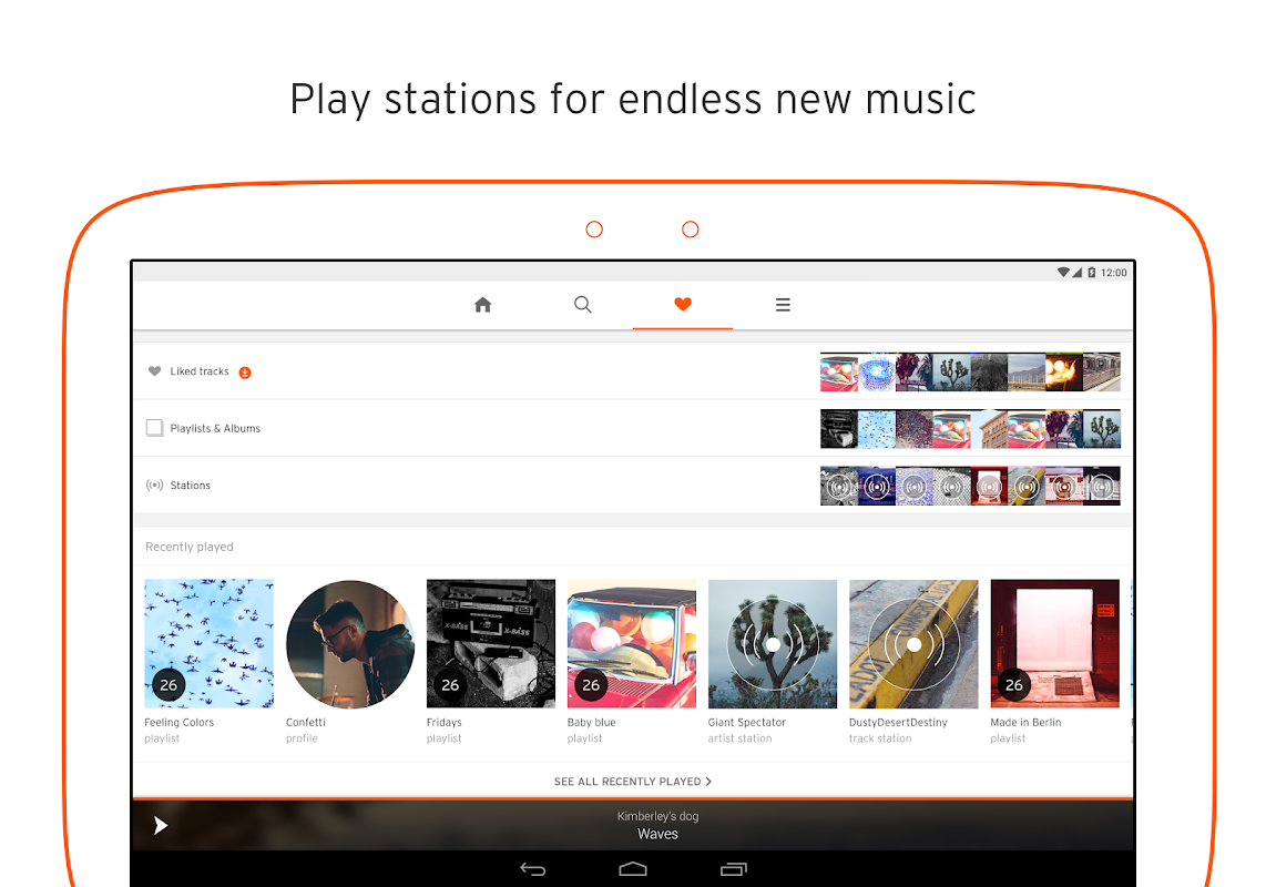 Android SoundCloud - Music & Audio Screen 4