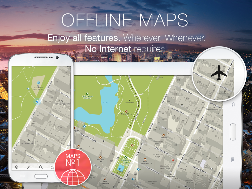 MAPS.ME Offline Map+Navigation 8.4.5-Google Screen 3