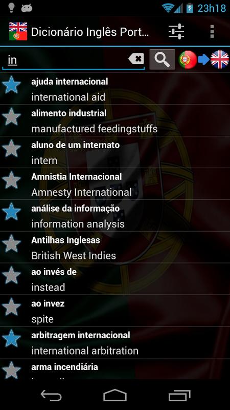 English Portuguese dict. FREE 3.1.0 Screen 1