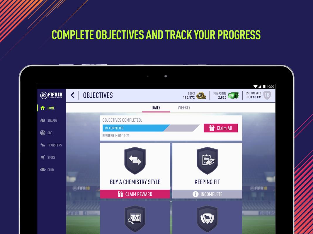 Android EA SPORTS™ FIFA 18 Companion Screen 4