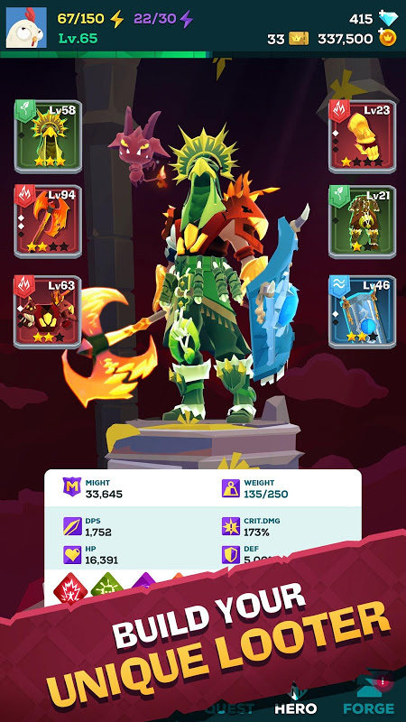 Android The Mighty Quest for Epic Loot Screen 1