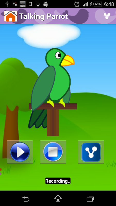 Android Animal Sounds & Talking Parrot Screen 4