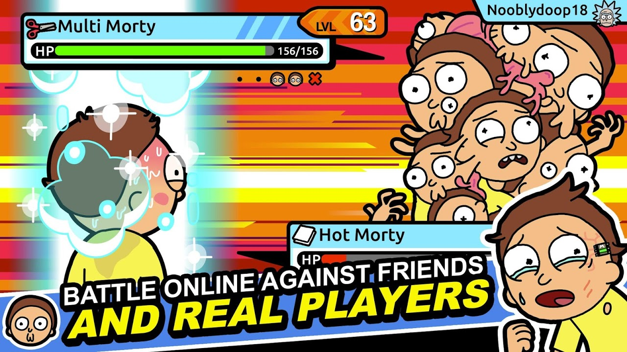 Android Pocket Mortys Screen 1