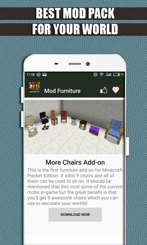 Mods and Addons Furniture for MCPE 1 1 2 APK Download by Life-Mods