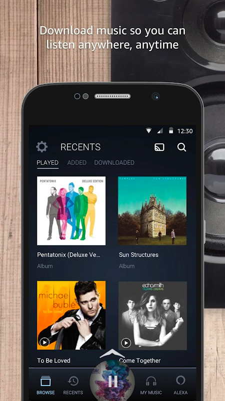 Android Amazon Music Screen 7