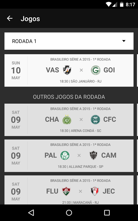 Android Vasco SporTV Screen 2