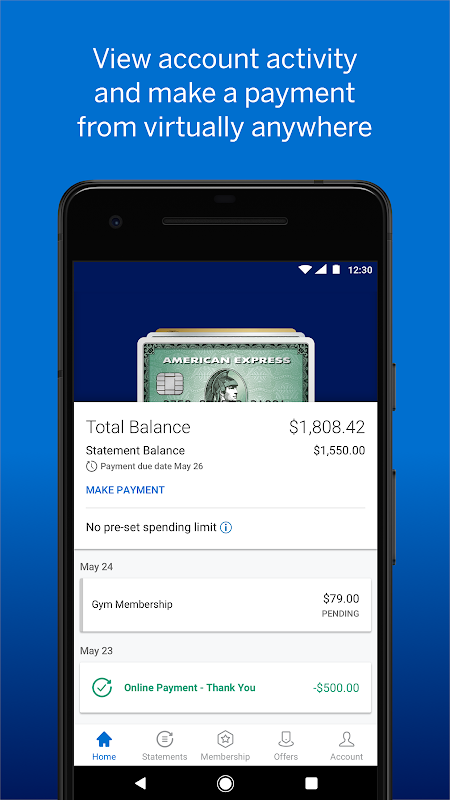 Android Amex Screen 6