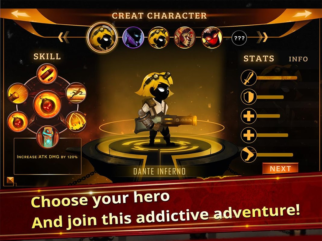 Android Stickman Legends - Ninja Hero: Knight, Shooter RPG Screen 6