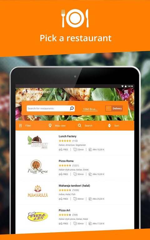 Takeaway.com - Belgium 4.22.2 Screen 4