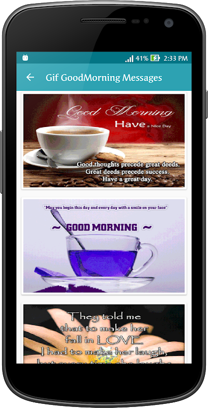 Android Gif Good Morning Messages Collection Screen 6