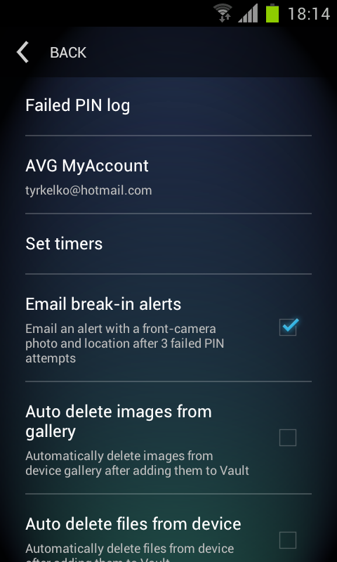 Android AVG Vault Screen 12