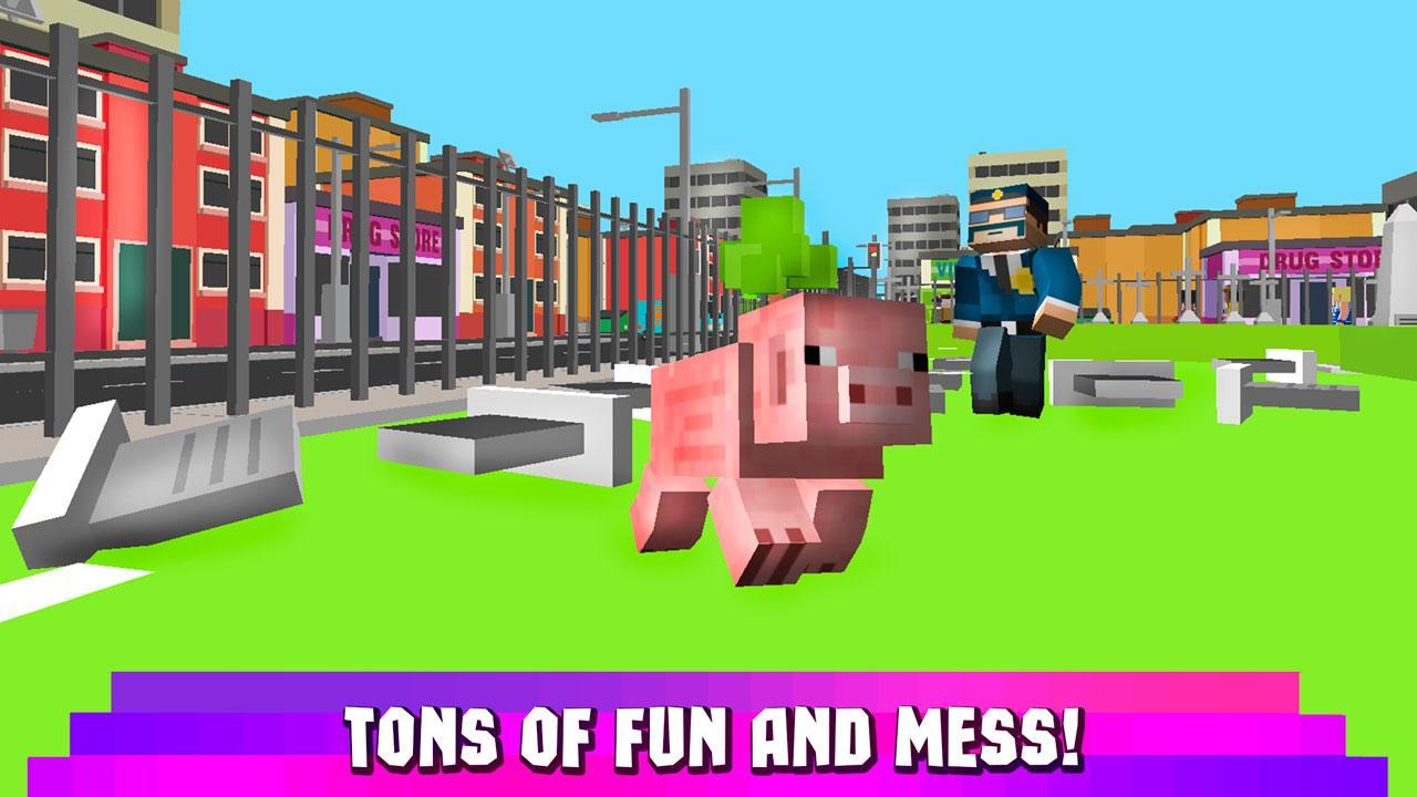 Android Cube Pig Simulator 3D Screen 3