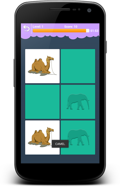 Android Animals Memory - Learn Animals Screen 6