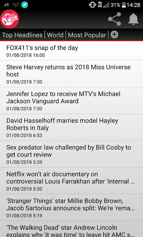 Rss News 1.2.0 Screen 1