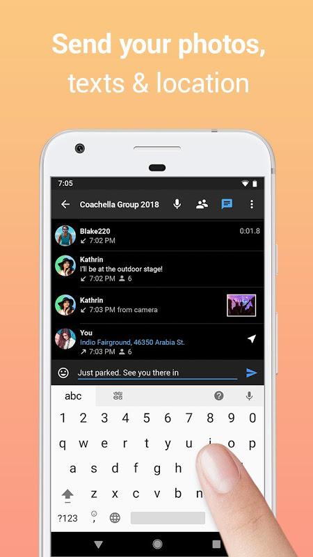 Zello PTT Walkie Talkie 4.62 Screen 2