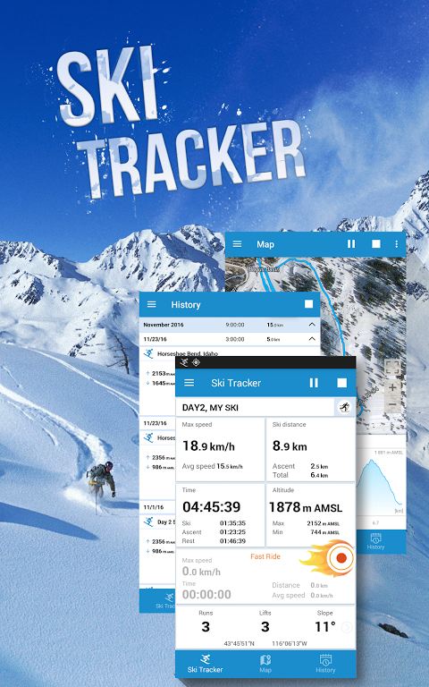 Android Snow Tracker Screen 2