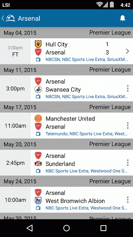 Live Football TV Schedules App 4.1.3.4 Android Screen 6