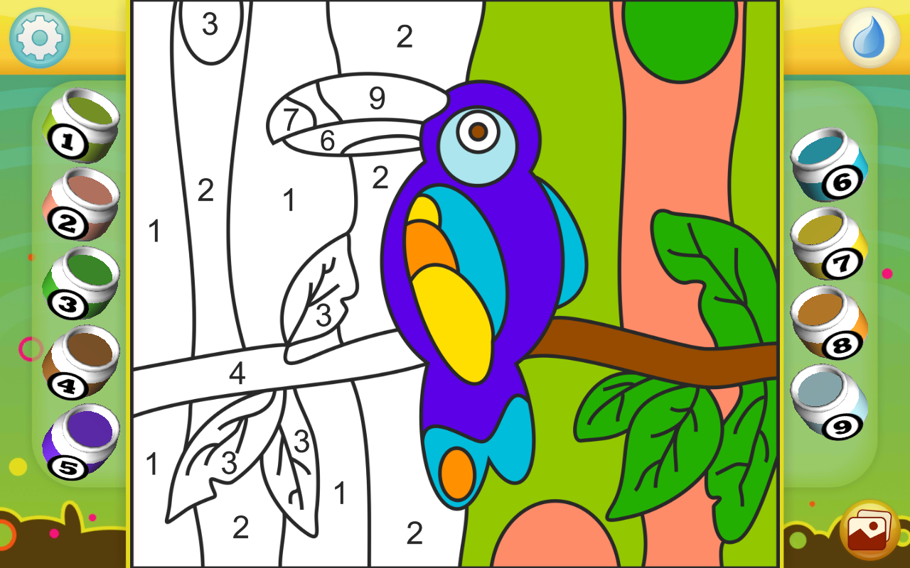 Android Paint by Numbers - Animals Screen 2