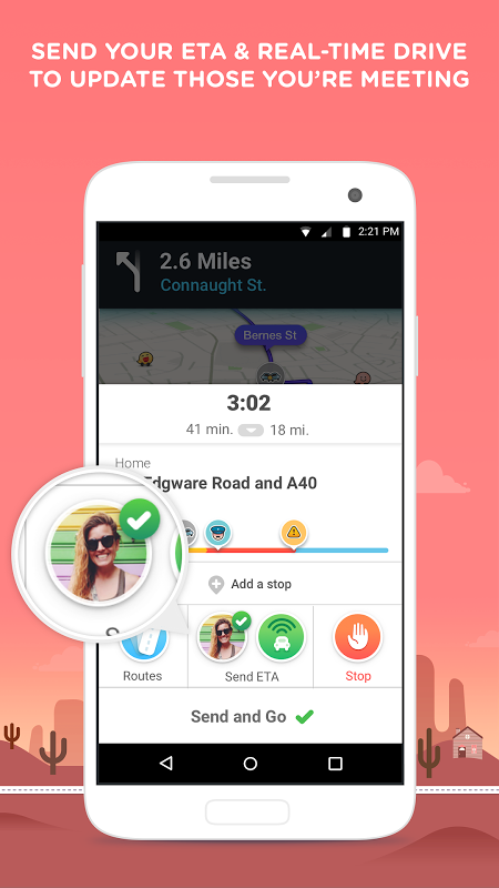 Waze - Sat Nav, Maps & Traffic 4.22.1.901 Screen 3