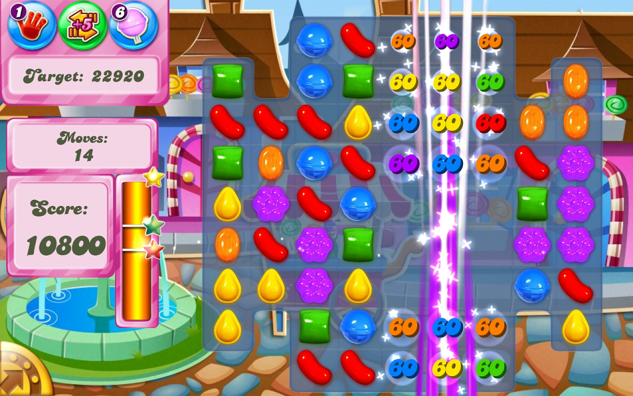 Android Candy Crush Saga Screen 2
