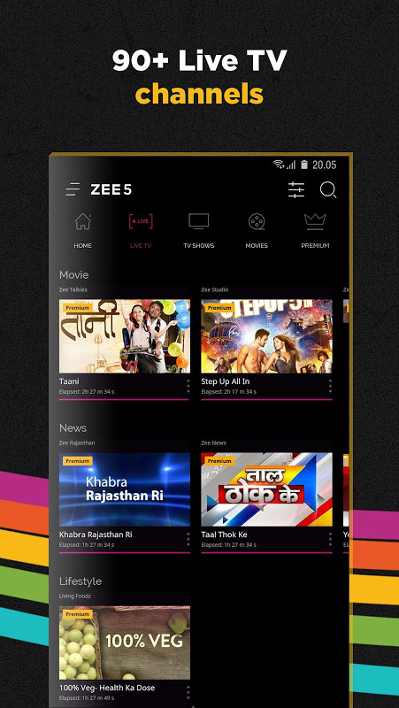 ZEE5 - Movies, TV Shows, LIVE TV & Originals 11.2.134 Screen 2