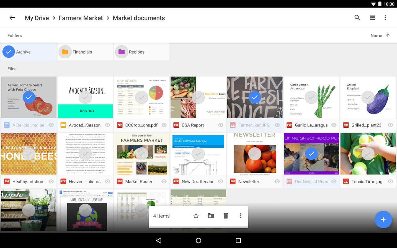 Android Google Drive Screen 8